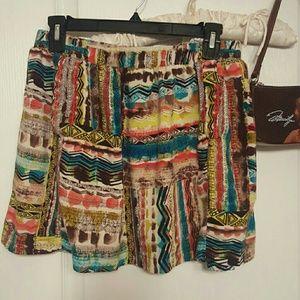 Forever 21 Boho Skirt Front Pockets Medium